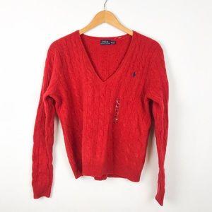 POLO Ralph Lauren V-neck Wool Cashmere Sweater